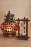 hourglass lampowy stary Oriental Zdjęcia Royalty Free