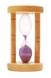 Hourglass, last second. Hourglass isolated on white background Royalty Free Stock Photography