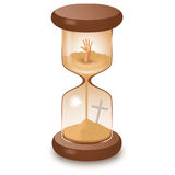 Hourglass leaking killing time illustration. Hourglass sand glass leaking killing time illustration Royalty Free Illustration