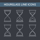 Hourglass Line Icons Stock Photography