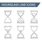 Hourglass Line Icons Stock Photos