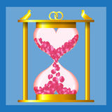 Hourglass of love Royalty Free Stock Photos