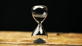 Hourglass mierzy przelotnego czas zdjęcie wideo