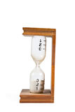 Hourglass with minute markings isolated Royalty Free Stock Image