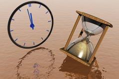 Hourglass mit Borduhr lizenzfreie abbildung