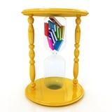 Hourglass mit den Büchern nach innen Lizenzfreie Stockbilder