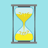 Hourglass, New Year 2017 Stock Images