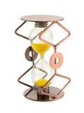 Hourglass no fundo branco imagens de stock