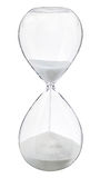 Hourglass. One hourglass sand glass timer Stock Photo