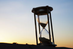 Hourglass Outside at Sunrise Stock Images