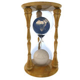 Hourglass with planets within Royalty Free Stock Photography