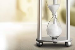 Hourglass. Pressure heap timer endurance past business Royalty Free Stock Photos