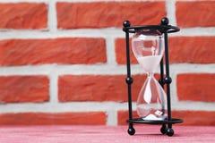 Hourglass preto imagens de stock