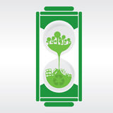 Hourglass Recycle Concept royalty free illustration