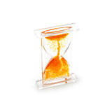 Hourglass with a red gel bubbles lifting up Royalty Free Stock Image