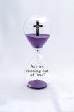 Hourglass religii zachwyt Zdjęcia Royalty Free