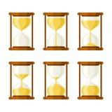 Hourglass retro vector icons set Stock Photo
