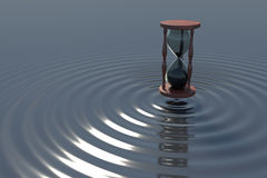 Hourglass Ripples Royalty Free Stock Photos
