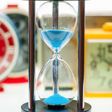 Hourglass running time concept Royalty Free Stock Photography