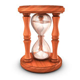 Hourglass with sand. 3D illustration of Hourglass with sand Stock Images