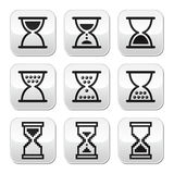 Hourglass, sandglass  icon set Royalty Free Stock Images