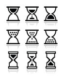 Hourglass, sandglass  icon set Royalty Free Stock Photography