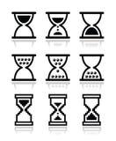 Hourglass, sandglass  icon set Royalty Free Stock Photography