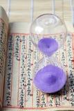Hourglass, sandglass, piaska zegar, piaska zegar Zdjęcia Royalty Free