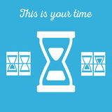 Hourglass, sandglass in vector Royalty Free Stock Photography