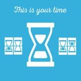 Hourglass, sandglass in vector. Hourglass, sandglass on blue background in vector vector illustration