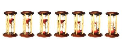 Hourglass series Royalty Free Stock Photo