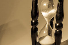 Hourglass with shadow Royalty Free Stock Photos