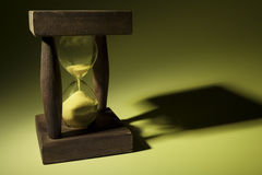 Hourglass With Shadow Stock Image