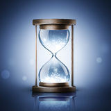 Hourglass with shining light Stock Photography