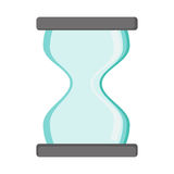 hourglass silhouette icon time clock Royalty Free Stock Photos