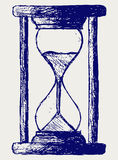 Hourglass sketch. Doodle style. Vector Royalty Free Stock Photos