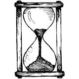 Hourglass sketch Royalty Free Stock Image