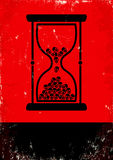Hourglass with skulls Stock Images