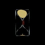 Hourglass with solenoid to slow down the time Stock Photo