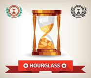 Hourglass symbol,vector Royalty Free Stock Photography