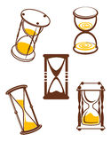 Hourglass symbols Royalty Free Stock Images
