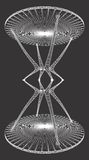 Hourglass Table Structure Vector Royalty Free Stock Image