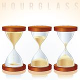Hourglass. Three Different States. Vector Graphics Royalty Free Stock Images