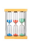 Hourglass with three flasks Royalty Free Stock Photography
