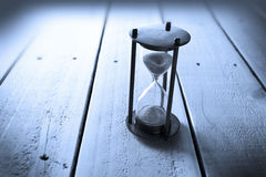 Hourglass Time Wood Background Stock Image