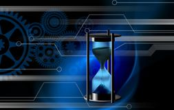 Hourglass time bogs bears business background. vector illustration stock illustration