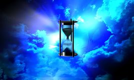 Hourglass time cloudy background. vector illustration. Vector illustration. many uses for advertising, book page, paintings, printing, mobile backgrounds, book stock photo