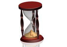 Hourglass - time concept. Hourglass 3d illustration - time concept Stock Photography