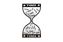 Hourglass time concept, Time goes by Stock Photos