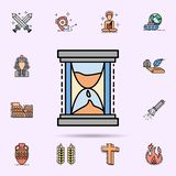hourglass, time and date icon. Universal set of history for website design and development, app development vector illustration